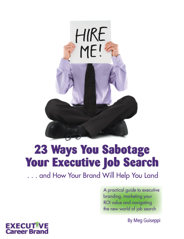 sabotage your executive job search