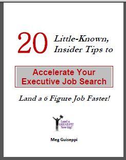 20 Executive Job Search Tips